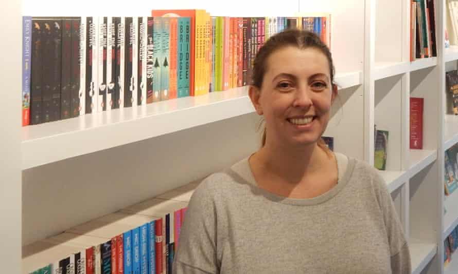 Owner Jenny McCann in Bear Bookshop, a children's bookshop in Bearwood, West Midlands.