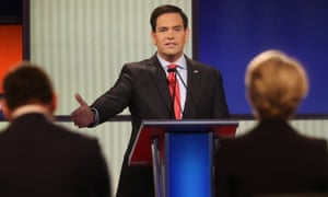 Republican presidential hopeful Marco Rubio fielded a rare climate question in the debate in Iowa on January 28th.