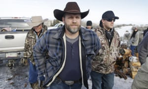 Ammon Bundy, one of the sons of Nevada rancher Cliven Bundy, arrives for a news conference at Malheur national wildlife refuge near Burns, Oregon.