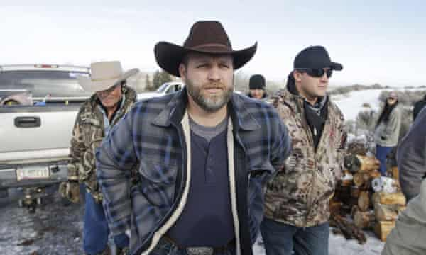 Ammon Bundy leads the militia takeover at Malheur national wildlife refuge in Oregon last month.