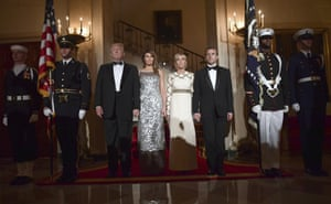 The official group photo in the Grand Foyer before the State Dinner