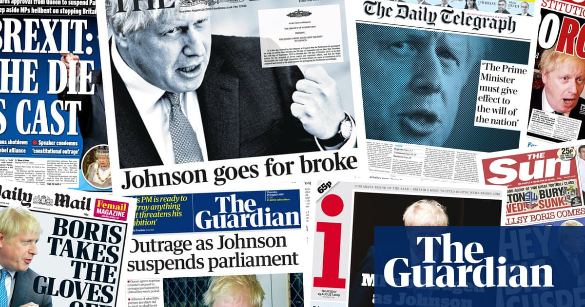 Day democracy died: what the papers say about proroguing parliament