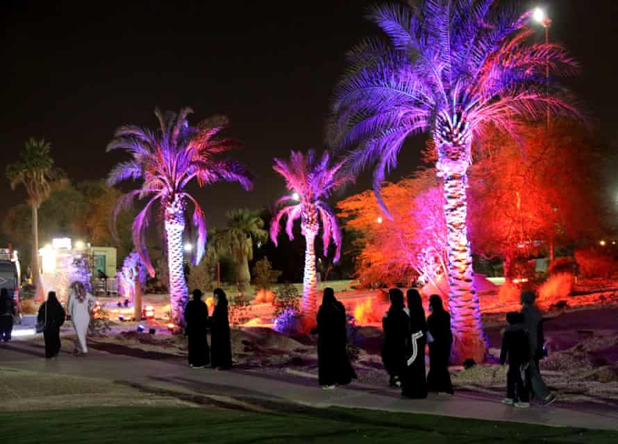 Saudis at the country's first jazz festival