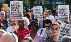 A Windrush generation solidarity rally in April.