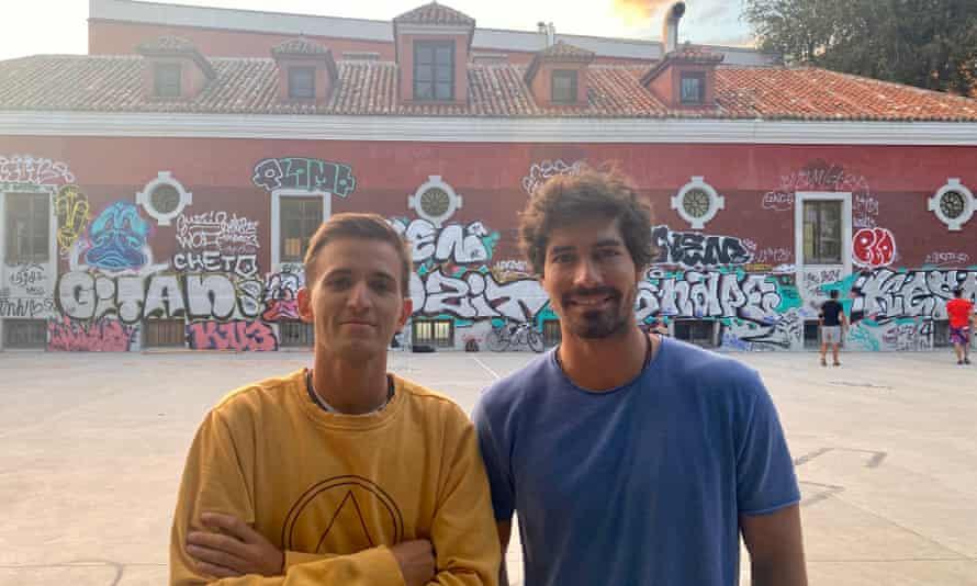 Gonzalo Perales (left) and his colleague Pablo García,