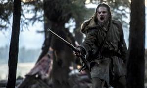 Taking the long way home … Leonardo DiCaprio in The Revenant.