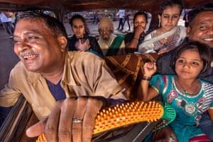 An assortment of passengers