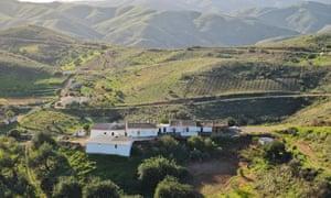 The Serra do Caldeirao mountains.