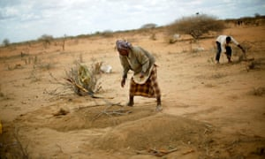 A 12-month-old girl is buried at Dadaab's Ifo camp after dying of malnutrition during the 2011 famine.