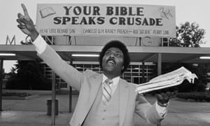 Little Richard, who became a preacher, during a visit to Oakland, California, in 1981.