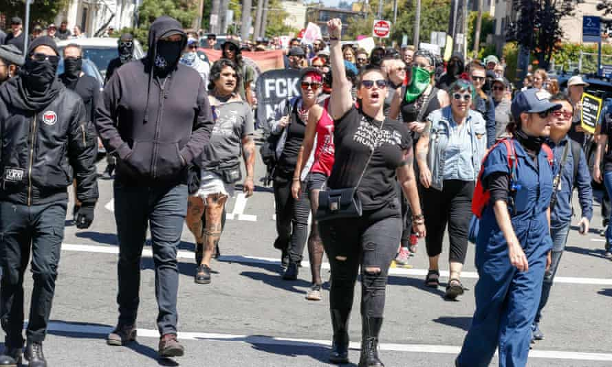 "Counter-protesters were arrested at an ""alt-right"" rally in Berkeley."