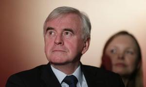 John McDonnell, the shadow chancellor.