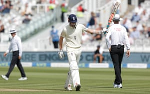 Crawley dejection after dismissal