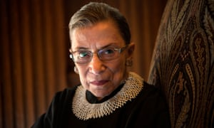 The late supreme court justice Ruth Bader Ginsburg.