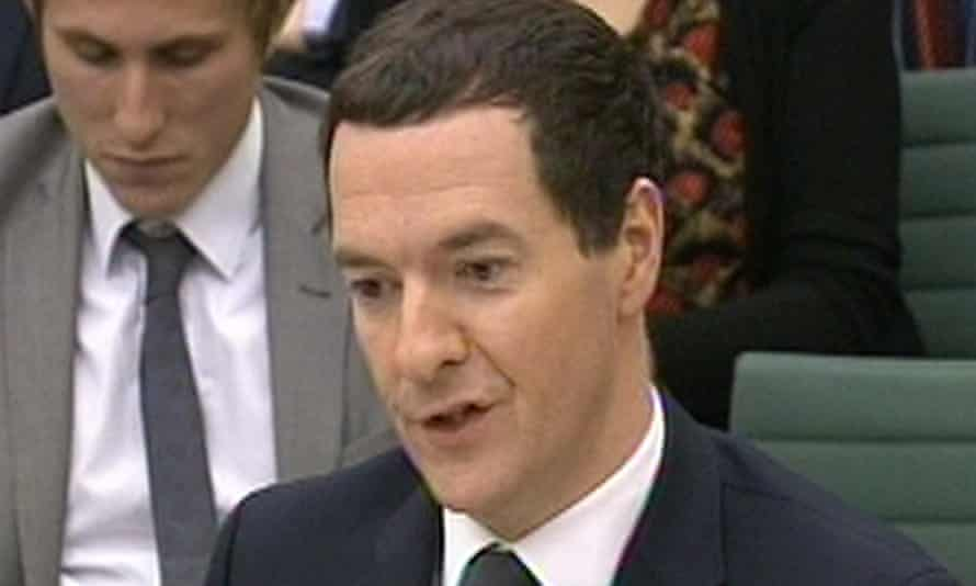 George Osborne gives evidence to the Treasury select committee
