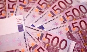 €500 banknotes