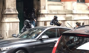 Armed police in Granby Row, Manchester.