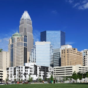 Charlotte, North Carolina, skyline.