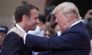 Emmanuel Macron and Donald Trump in June.
