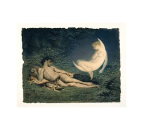 Endymion and Selene mid-19th by Victor-Florence Pollet