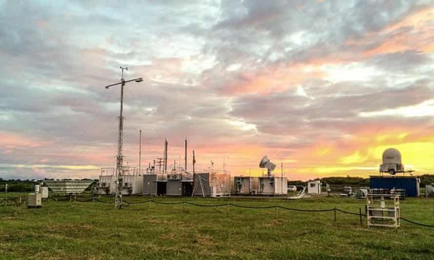 A heavily instrumented weather station downwind of Manaus meaures aerosols, clouds, and solar and thermal energy.