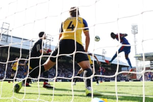 Christian Benteke fails to find the net.