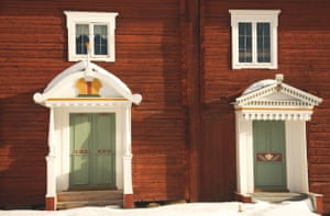 Intricate detail on Hälsingland farmhouses