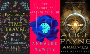 Synchronised storytelling … three of the new books featuring lesbian time travellers