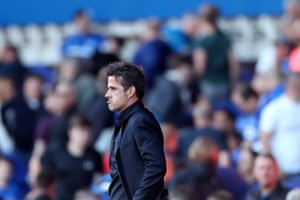 Marco Silva shows a look of dejection at the final whistle.