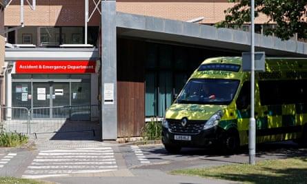 Ambulance outside closed A&E department