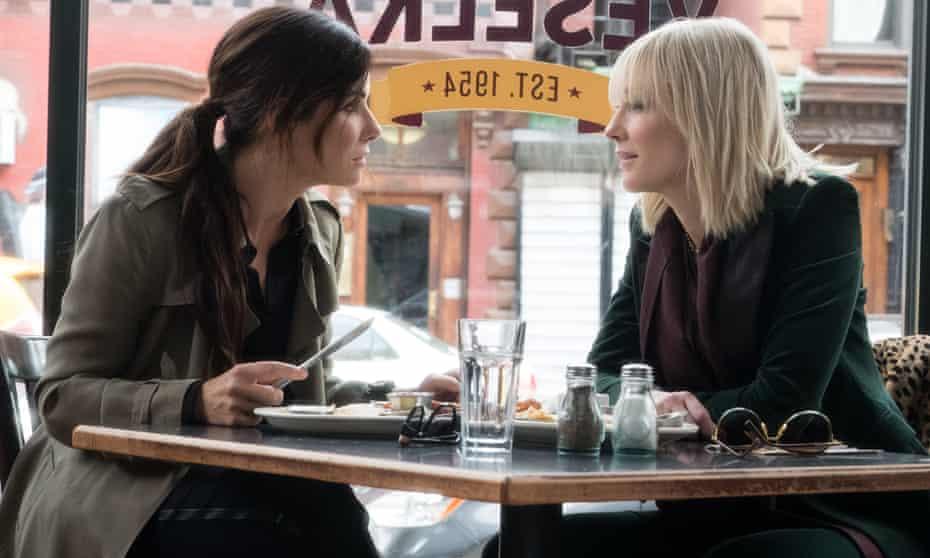 Sandra Bullock and Cate Blanchett in Ocean's 8.