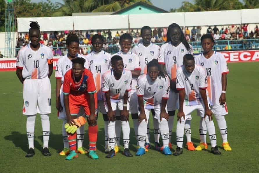 South Sudan's national team, who played their first game last year.