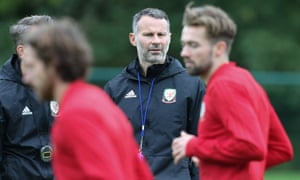 Ryan Giggs oversees Wales training last October. He describes the qualifier at home to Slovakia in March as 'a big one'.
