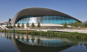 Zaha Hadid's London Aquatics Centre.