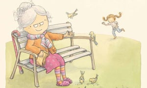An illustrations from Grandma Forgets by Paul Russell and Nicky Johnston.