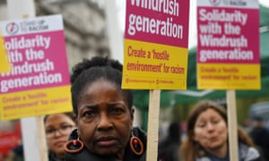 Windrush generation solidarity protest outside the Houses of Parliament.