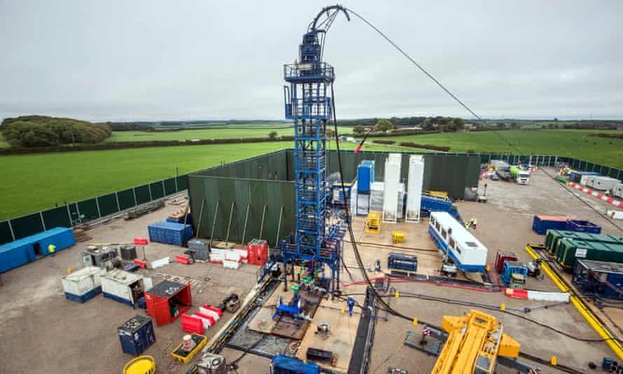 The Cuadrilla fracking site in Preston New Road, Lancashire.
