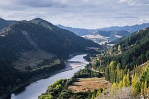 The Whanganui River, North Island, New Zealand.