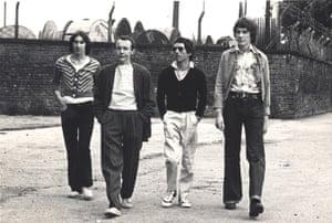 Buzzcocks: Steve Shelley, Howard Devoto, Pete Diggle, John Maher.