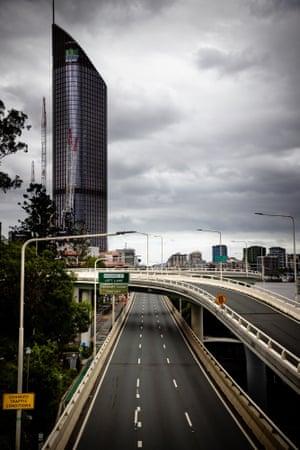 Deserted Riverside expressway