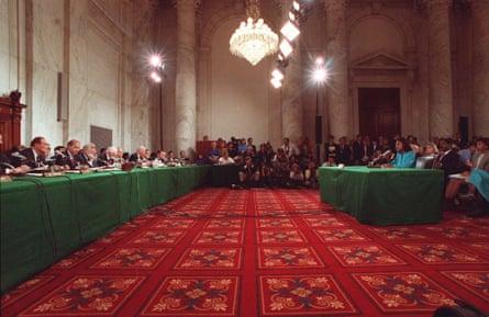 Anita Hill testifies: 'The visual was starkly misogynist.'
