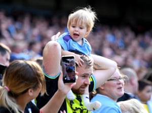 A young Manchester City fan.