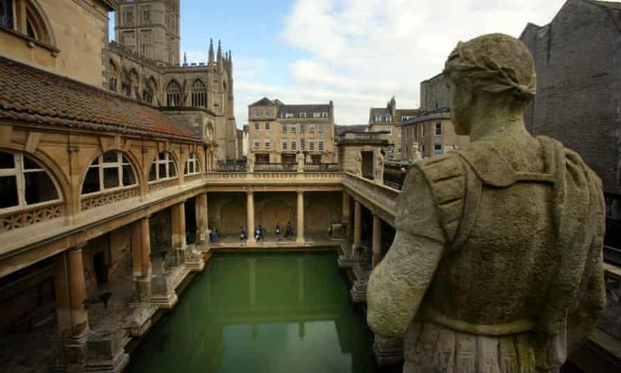 Historic Roman baths in Bath