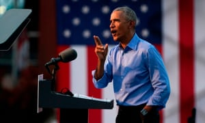 Obama hit the campaign trail for Joe Biden today in a bid to drum up support for his former vice president.