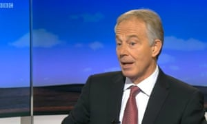 Tony Blair on the Sunday Politics.