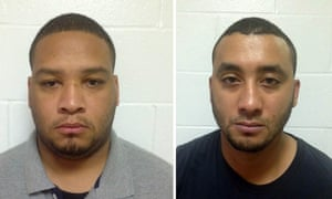 This Louisiana State Police photo combination shows Derrick Stafford, left, and Norris Greenhouse, Jr. T