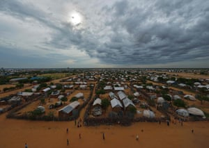 Aerial view of the eastern part of the Dadaab refugee camp.