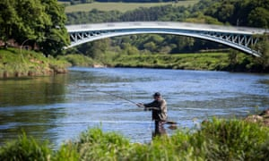 Salmon fishing is only permitted on the English side of the River Wye.
