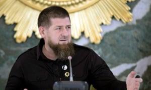 The Chechen leader Ramzan Kadyrov