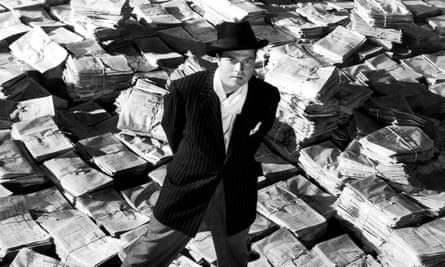 Orson Welles as Charles Foster Kane in Citizen Kane, 1941.
